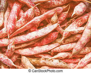 Retro looking Cranberry beans - Vintage looking Cranberry...