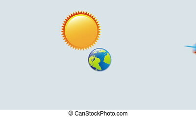 Summer icon desing, Video Animation HD1080