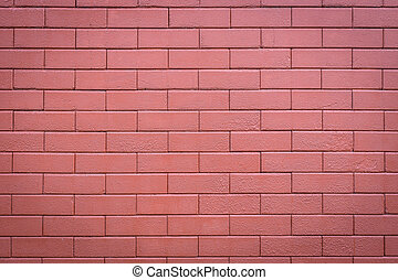 Red brick wall background and texture - Pattern of red brick...