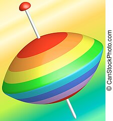 Whirligig - Illustration of the abstract whirligig icon