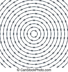 Barbwire round pattern - Illustration of the abstract...