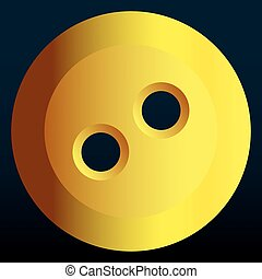 Button - Illustration of the abstract yellow button icon