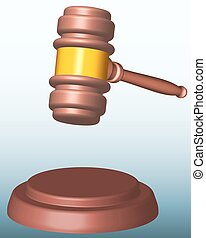 Gavel - Illustration of the judge or auction gavel
