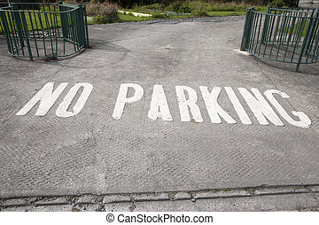 No Parking Sign in Urban Setting