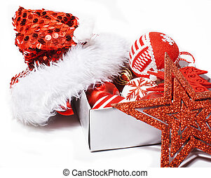 christmas decoration isolated , white background for post...