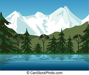 Lake in mountain - The Beautiful landscape clean lake in...