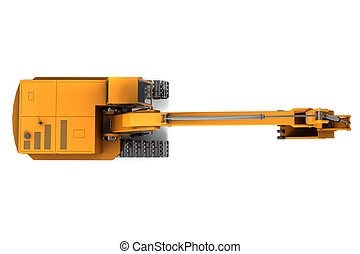Digger - Orange dirty digger isolated on white background....