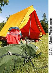 露營, 站點