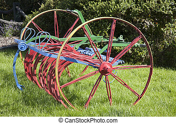 Colorful Plough in Irish Field