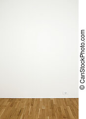 Empty white wall - Blank white wall in a clean room with...