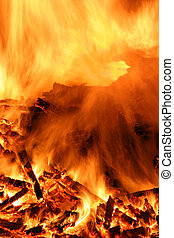 Fire - Close-up of a bonfire