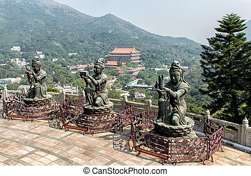Lantau Island Offerings - big Buddha at Lantau Island Hong...