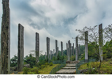 Path of Wisdom on Lantau Island Hong Kong - Wisdom path at...