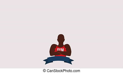 Gym icon design, Video Animation HD1080