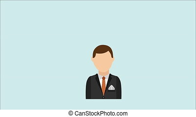 Businessman design, Video Animation hd1080
