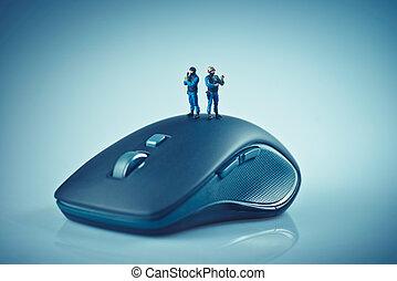 安全, 電腦, 概念