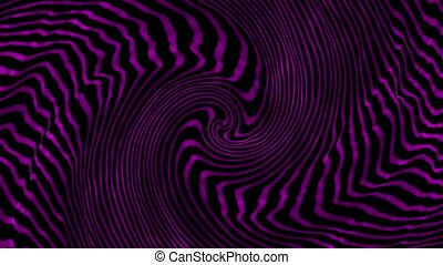 Abstract rotating lines in spiral in purple