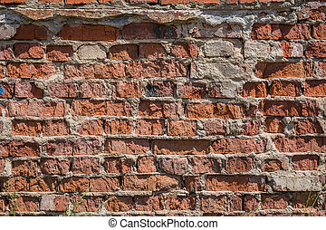Red brick wall background pattern