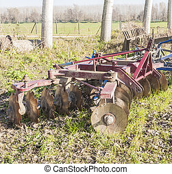 Agricultural tool, disc harrow - Tool for agriculture: disc...