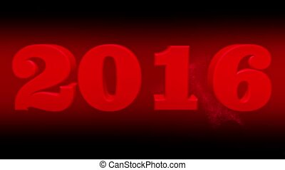 Concept 2016 year in red