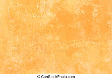 Abstract old orange cement wall with crack texture and...