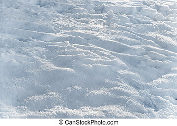 Uneven snow surface - Fluffy uneven white background,...