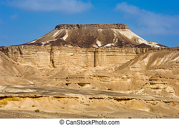 Makhtesh ramon - Table shape mountain in the Makhtesh ramon...