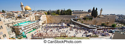 The wailing wall - JERUSALEM, ISRAEL - OCT 06, 2014:...