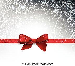 cartão, arco, festivo