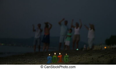 New Year celebration on the beach