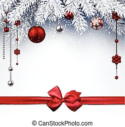 Christmas background. - Christmas background with red balls...