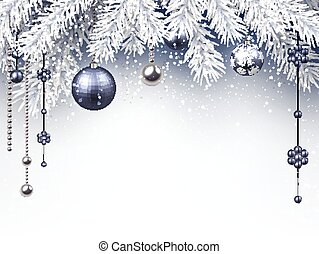 Christmas background. - Christmas background with silver...