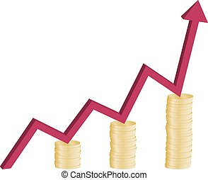 financial growth graph concept