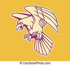 Bald Eagle Retro Color - Vector illustration of bald eagle...