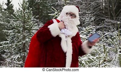 Happy Santa Claus dancing