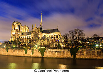 Notre-Dame Cathedral - Beautiful view of the river Seine...