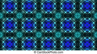 Colorful kaleidoscopic patterns quickly change shape. This...