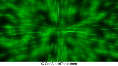 Abstract green motion blury background