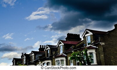 Time Lapse english terraced houses