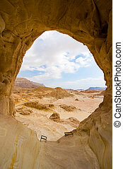 Timna park - The Arches rock formation at Timna Park in the...