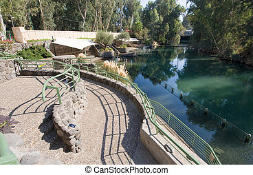 Baptismal site Yardenit - The baptismal site Yardenit on the...