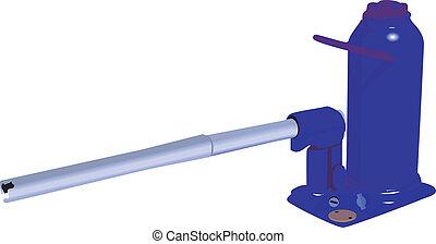 hydraulic pump with handle - Illustration of hydraulic pump...