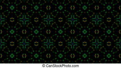 Colorful kaleidoscopic patterns quickly change shape This is...