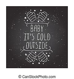 Christmas greeting card with text on chalkboard background -...