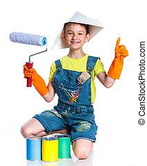 Little painter boy.