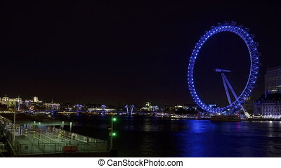 Time lapse Thames and London Eye - Time lapse of River...