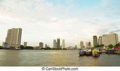 Time Lapse of Bangkok Skyline - Time Lapse of the Skyline...