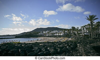 Time Lapse of a beach, Canaries - Time Lapse of a beach in...