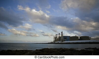 Time Lapse of a factory, Canaries - Time Lapse of a factory...