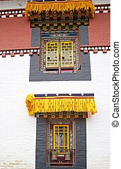 Pemayangtse Monastery, Sikkim, India - Windows with prayer...